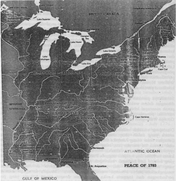 Peta Amerika 1783