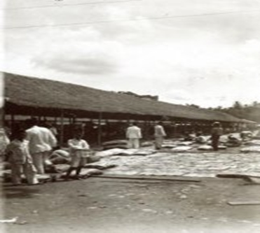 Rubbermarkt te Barabai dokumentasi oleh media-kitlv.nl tahun 1927