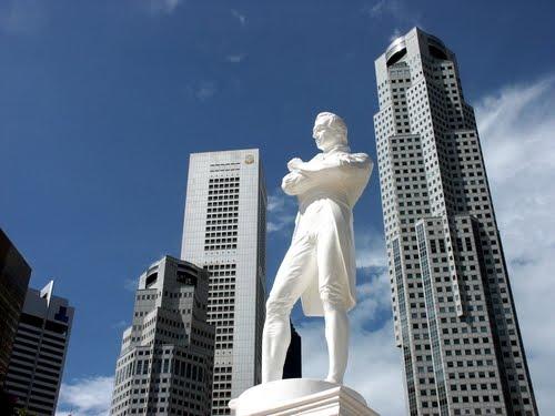 Raffles landing site di Singapura